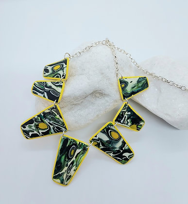 Yellow Green Graduated Necklace