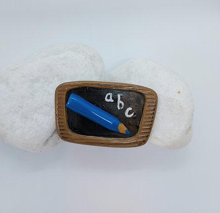Blue Crayon Brooch
