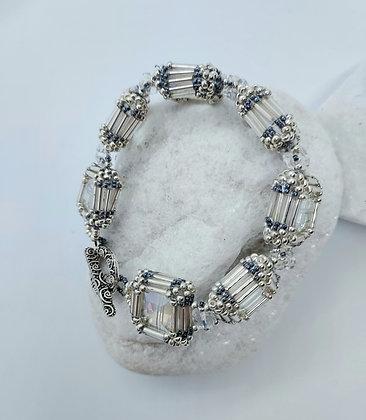 Square Crystal Bracelet Silver