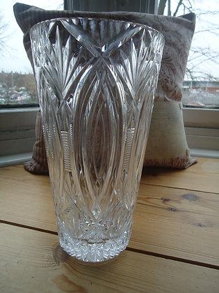 Vintage lead crystal vase