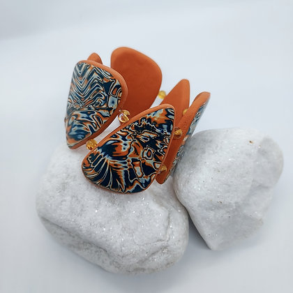 Orange & Blue chunky Bracelet