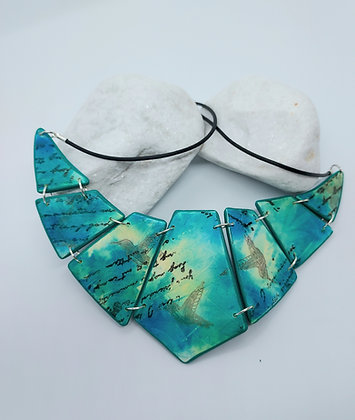 Turquoise Pale Yellow Neck Collar