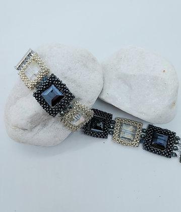 Black & Silver Crystal Bracelet