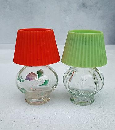 Vintage lamp shaped Avon perfume bottles
