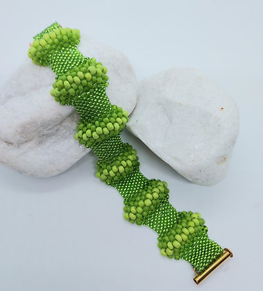 Wave Bracelet Green