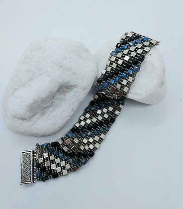 Fluid Squares Bracelet