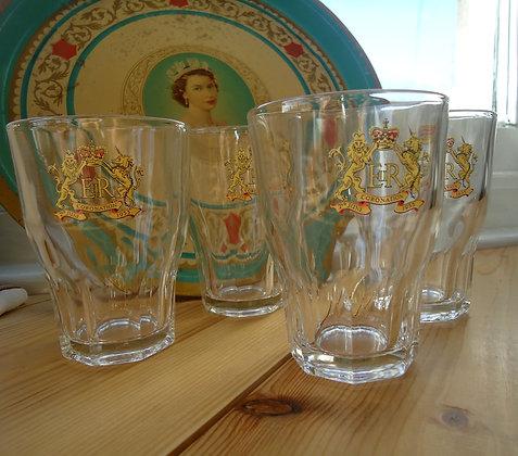 4 Coronation (1953) Glasses