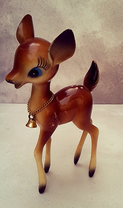 Kitsch vintage 1960s plastic bambi deer