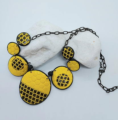 Black & Yellow Graphic Necklace