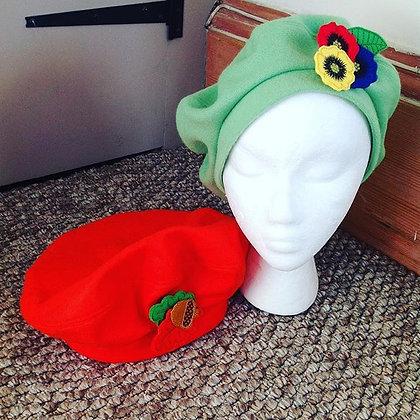 Vintage style felt beret