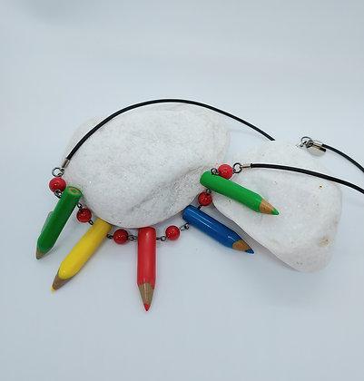 5 Crayon Necklace Red