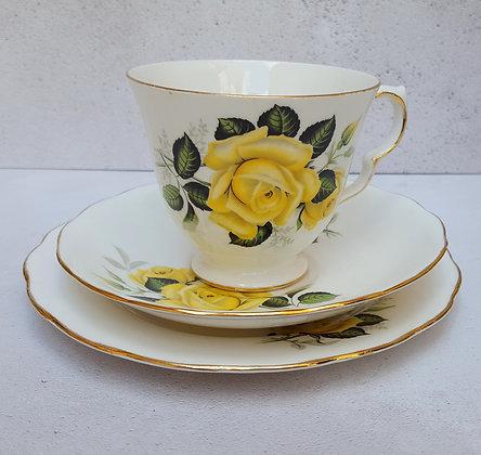 Vintage Gainsborough bone china Yellow Rose