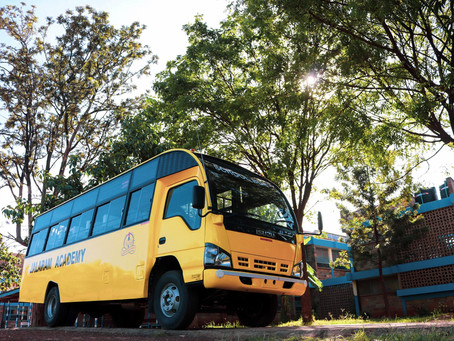 We have a brand new school bus!