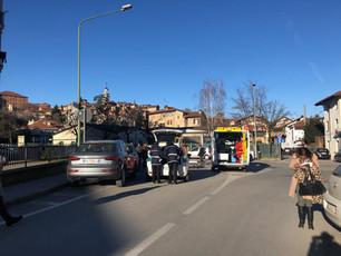 Anziana investita da un'auto nei pressi dell'ospedale di Saluzzo