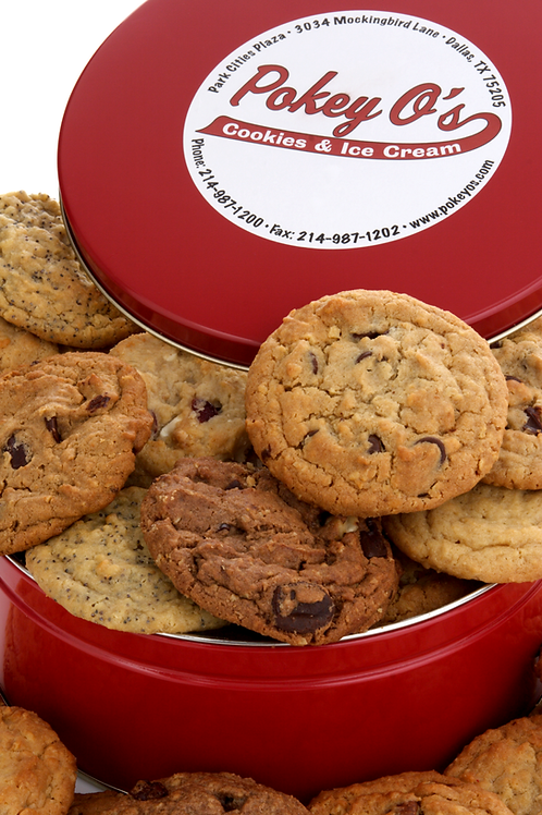 Tin of Cookies - 12 or 20 Count