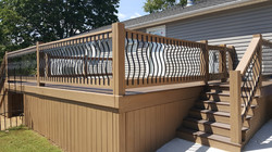 Composite decking & decking staining