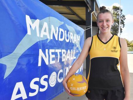 Mandurah netball prodigy out to impress at national championships