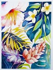 Nov 11 - Tropical Flowers in Watercolour.jpeg