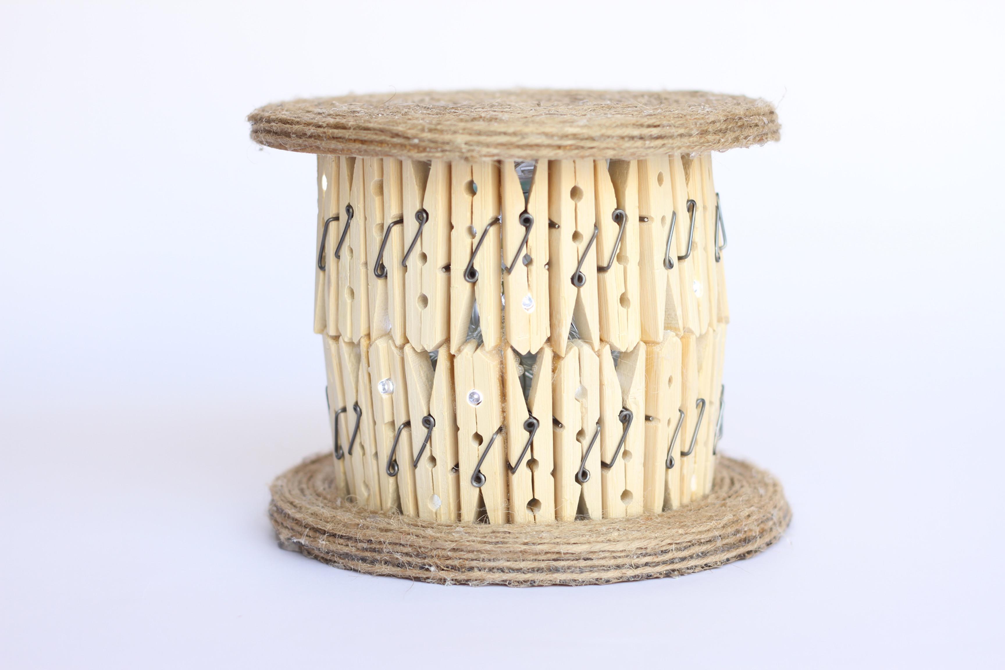 DIY Clothespin Lamp