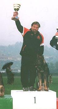 Mauro Lena sul podio
