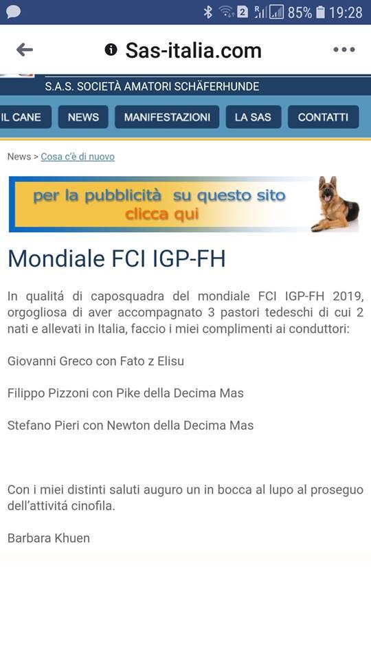 MONDIALE FCI
