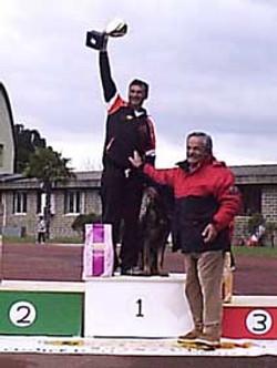 Daniele Barbanera sul podio