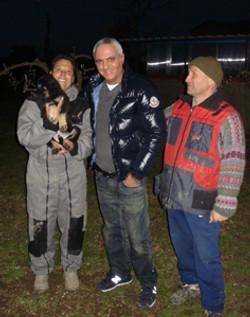 Giorgio Panariello e il suo cane