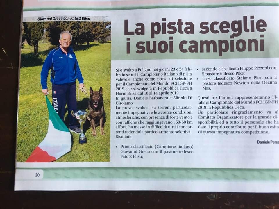 CAMPIONATO ITALIANO PISTA