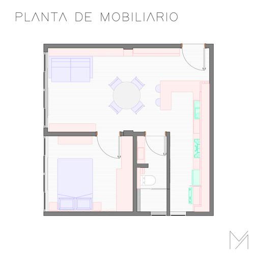 Planta de mobiliário