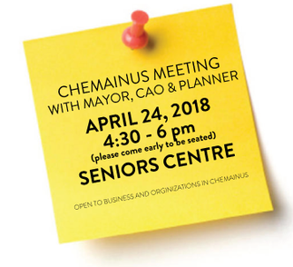 IMPORTANT MEETING: Mayor, CAO + Planner