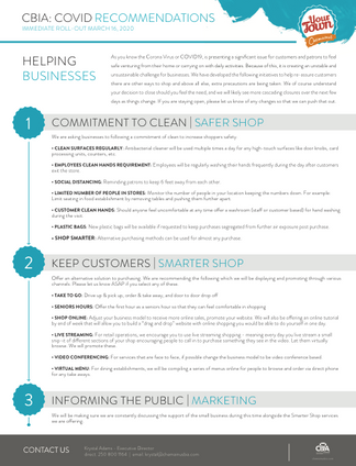 COVID 19 Recommendations to Businesses