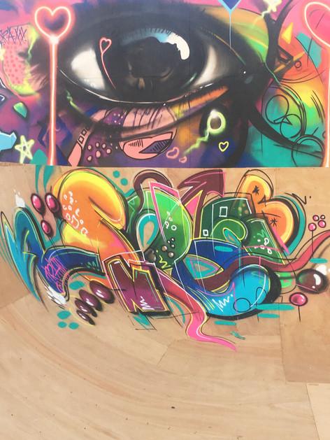 graffiti on skate park