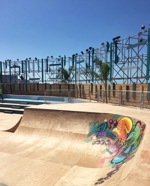 Half Pipe at Mother Of The Nation