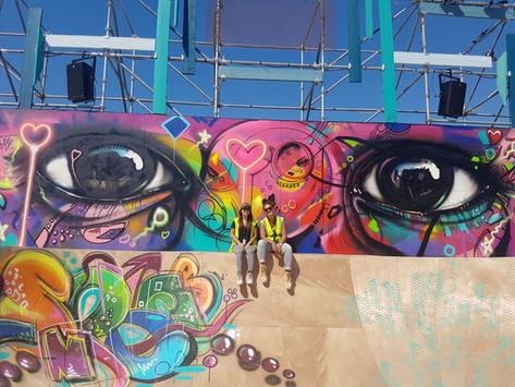 Graffiti mural eye at MOTN Festival