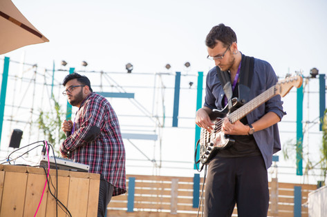 musicians at outdoor event