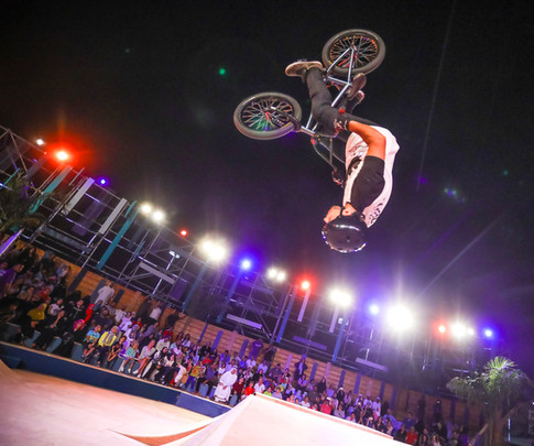 BMXer at outdoor event