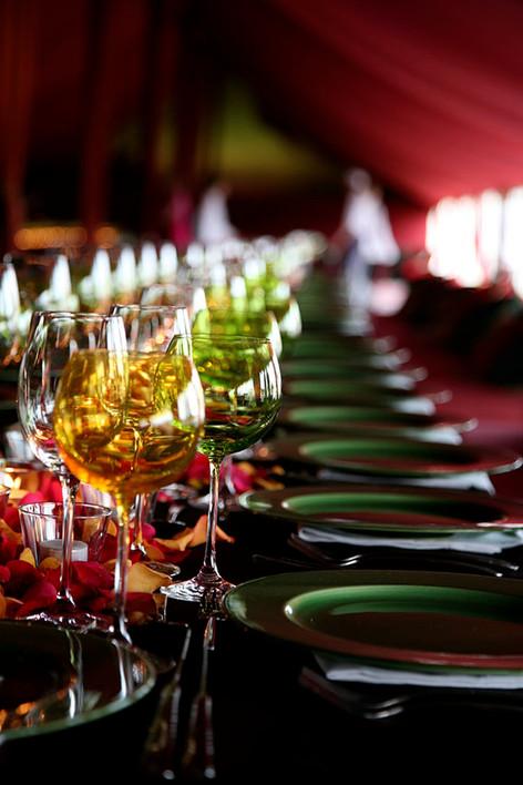 colourful table setting