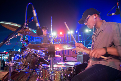 Musician at outdoor event