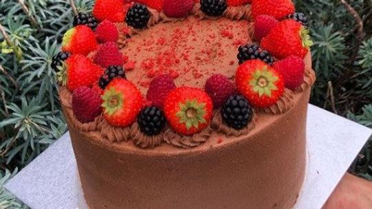 Chocolate & Berry Cake