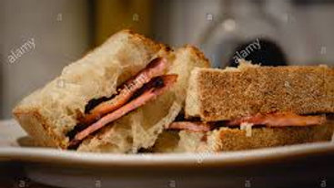 Toasted Sourdough Bacon Sandwich