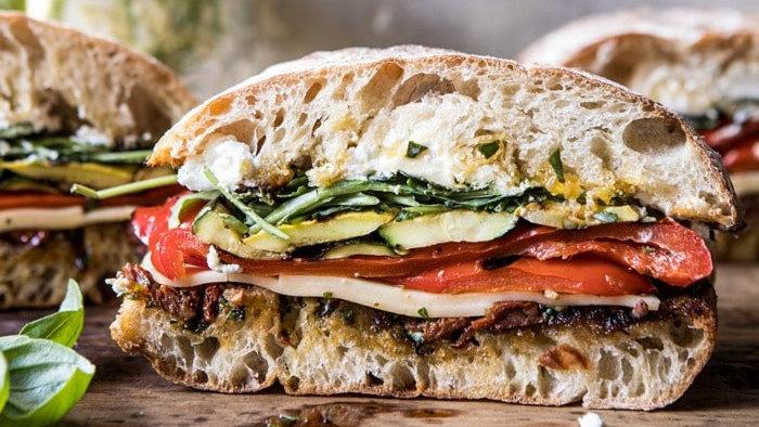 Vegetarian Breakfast Ciabatta