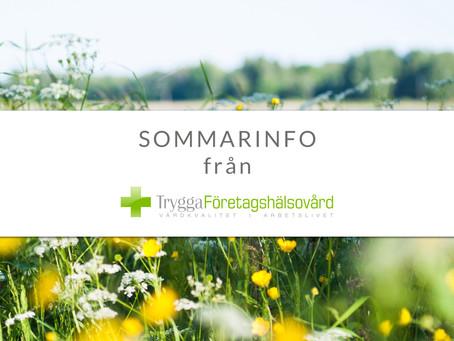 SOMMARINFORMATION från TryggaFöretagshälsovård: