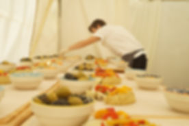Chef plating sharing starters