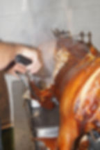 The perfect crackling on a free range hog roast