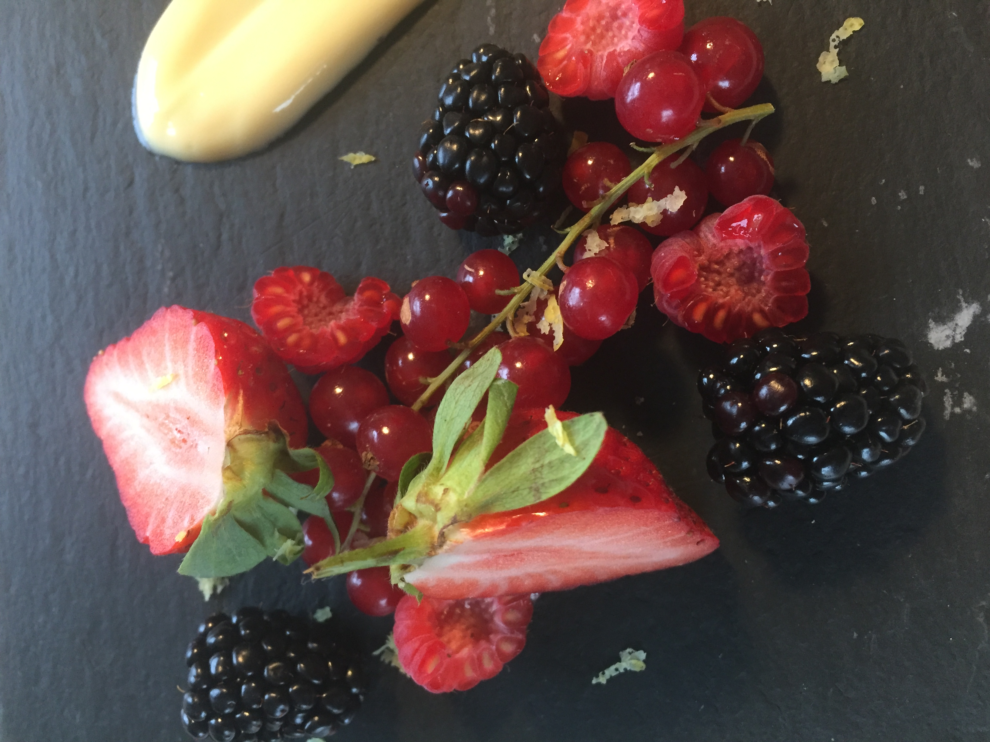 Berries and Lemon Curd