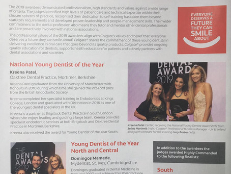 Colgate® congratulates the Young Dentist of the Year 2019 Awardees