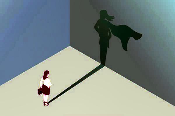 autoestima, sombra de mujer