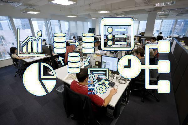 proyectos, gente trabajando, oficina