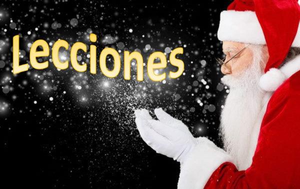 Papá Noel, navidad, lecciones