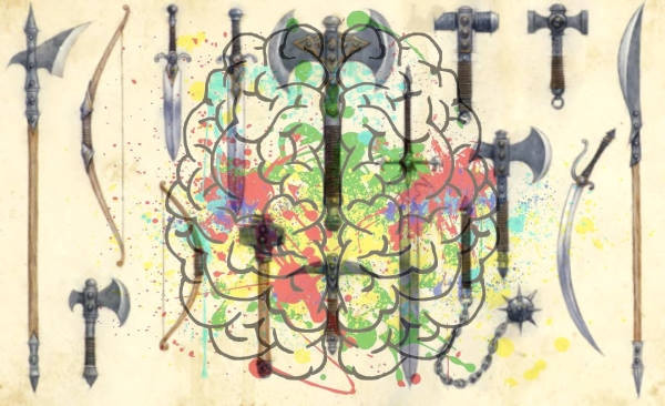 cerebro, armas blancas